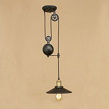 Airetrolight industrial pendant light pulley design cord airetrolight industrial pendant light pulley design cord adjustable retractable lighting black aloadofball Image collections