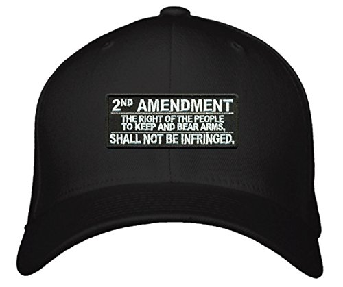 2nd Amendment Hats Mens Black Adjustable Cap - The Right Of The People To Keep and Bear Arms Shall Not Be Infringed