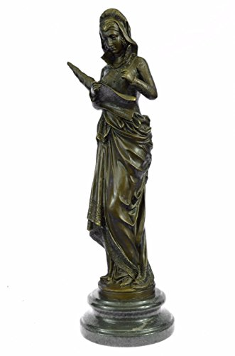 100% Real Bronze Fortuna Roman Goddess of Luck Lady Tykhe Statue Figurine