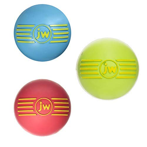 JW PET ISqueak Squeaker Dog & Puppy Fetch Chew Toy SMALL BALL 3 PACK