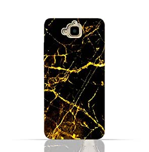 Huawei Y6 Pro/Honor Play 5X / Enjoy 5 TPU Silicone Case With Dark And Gold Mesh Marble Design