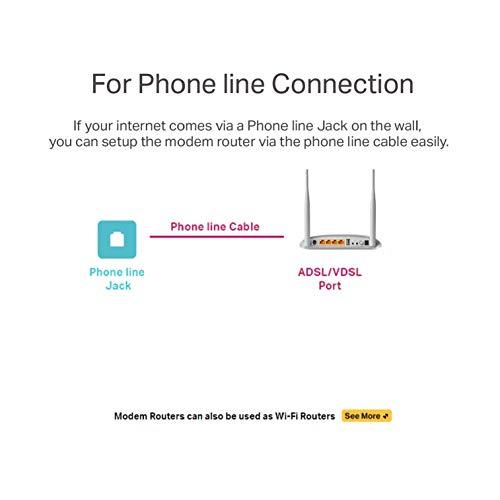 TP-Link 300 Mbps Wireless N VDSL/ADSL Modem Router, Support Modem Only Mode, 1 USB, 2.0 Port, UK Plug (TD-W9970)