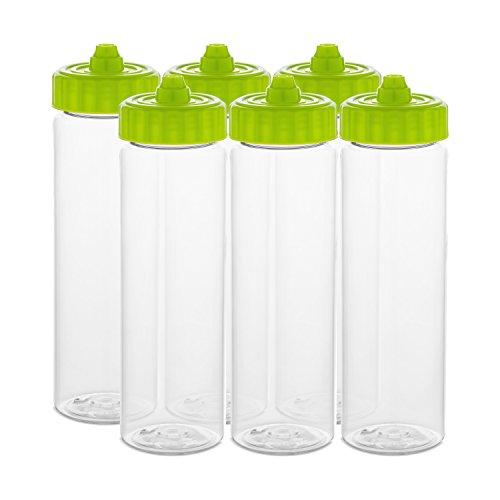 24 oz Squeezable Tritan BPA-Free Water Bottles - pack of 6