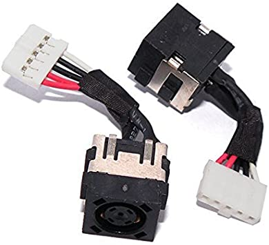 GinTai DC Power Jack Socket Harness Replacement for Dell Compatible with Latitude E5550 0PKHWY PKHWY DC30100Q000 5 PCS