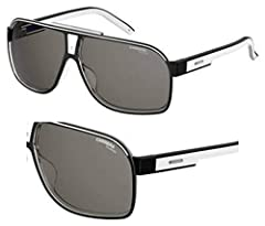 Carrera Grand Prix 2/S Sunglasses GRAND2S-07C5-M9-6409 - Black Crystal Frame, Gray Cp Pz Lenses, Lens Diameter 64mm, Distance Between Lenses 9mm