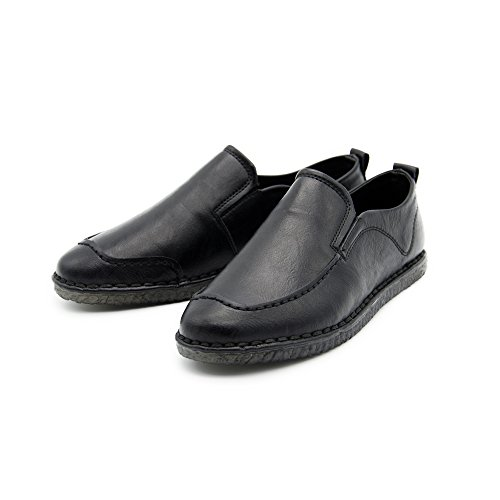 Loafers on Walking Shoes Fashion Idea Shoes Sneaker Frames Driving Black Men's Slip Leather fFqxAEwW