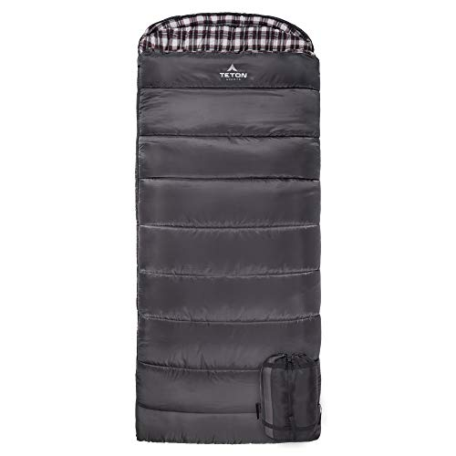 TETON Sports Fahrenheit XXL +20F Sleeping Bag; TETON Sleeping Bag Great for Cold Weather Camping; Lightweight Sleeping Bag; Hiking