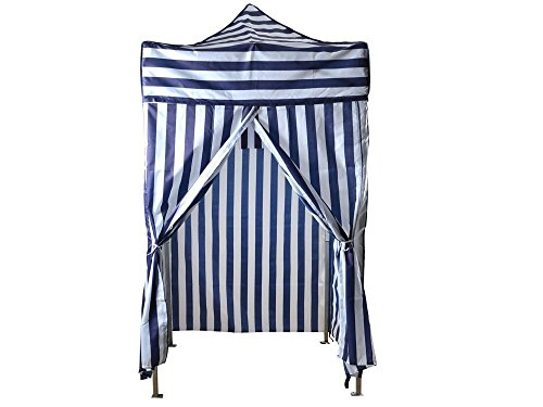 TMS Portable Cabana Stripe Tent Privacy Changing Room Pool Camping Outdoor (Cabana Tent)