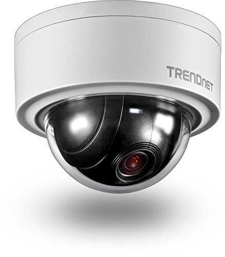 TRENDnet Indoor/Outdoor 3MP Motorized PTZ Dome Network Camera, 4x Optical Zoom, 16x Digital Zoom, Autofocus, IP66 Housing, Free iOS and Android mobile apps, ONVIF Profile S, TV-IP420P ()