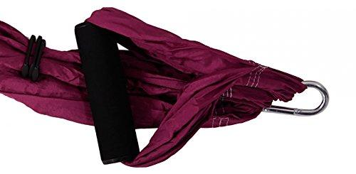 QUBABOBO Nylon Taffeta T210 Anti Gravity Yoga Swing Hammock Sling Inversion Hammock with 660lb Load