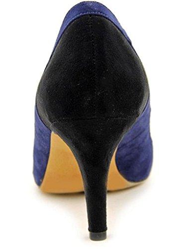 Vestir Blue Mujer Ante Black de Zapatos 11sunshop de 6paqxE