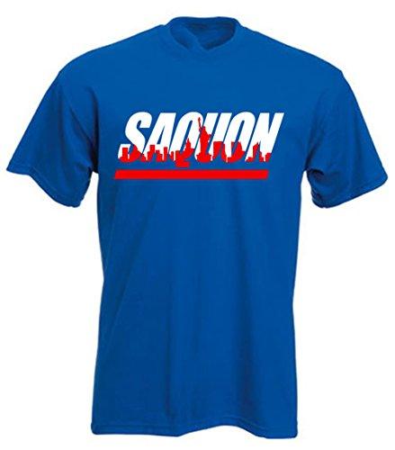 The Tune Guys Blue New York Saquon Skyline T-Shirt Adult -