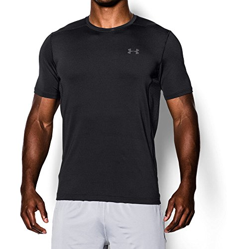 Under Armour Men's Raid Short Sleeve T-Shirt, Black/Black, Large
