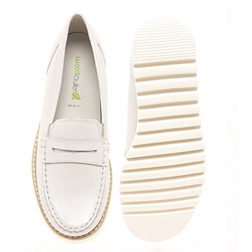 Waldlaufer 926504 172 211 Habea Women's Loafers in Silver Leather 148 Silver gLKWS24Lk