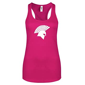 46572f02d7ff5 CollegeFanGear Missouri Baptist Next Level Ladies Raspberry Ideal Racerback  Tank  Spartan Icon  - Small
