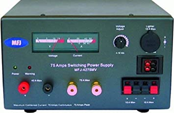 MFJ-4275MV MFJ-4275 Original MFJ Enterprises Switching Power Supply 13.8V 75A Meters