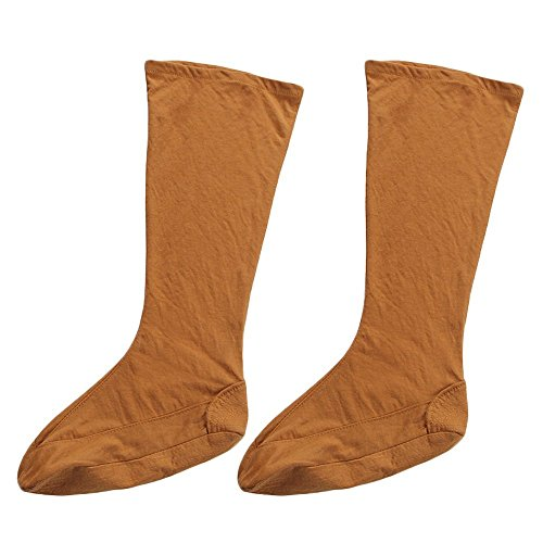 st Monks Socks Shaolin Taiji Wudang Taoist Socks Kung Fu Legging Pairs for Training Uniform Robe (44, Earth Yellow) ()