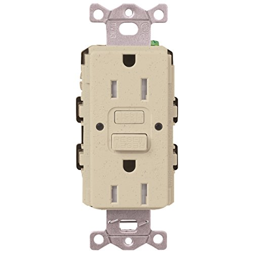 Lutron  SCR-20-GFST-MS  20-Amp  Tamper Resistant Self-Testing Receptacle, Mocha Stone -  Lutron Electronics Company, Inc.