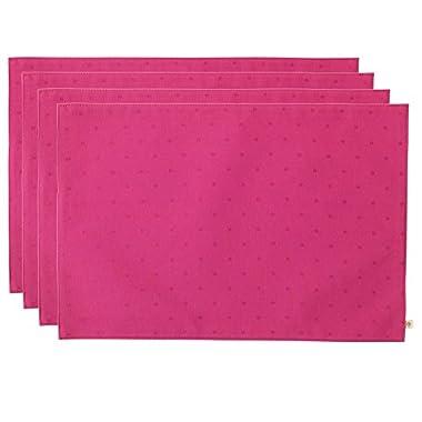 Kate Spade Larabee Dot Placemat, Pink, 4-Pack