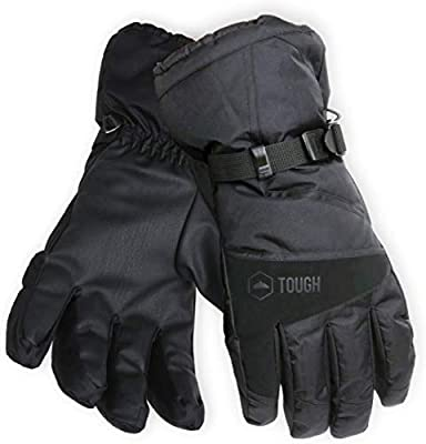 Winter Ski & Snow Gloves for Men & Women - Waterproof & Windproof Snowboard Gloves for Skiing, Snowboarding & Shoveling - With Wrist Leashes, Nylon Shell, Thermal Insulation & Synthetic Leather Palm