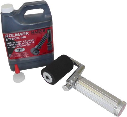 - MARSH Fountain Roller Kit with 1 qt Black Rolmark Ink Can, 1-1/2