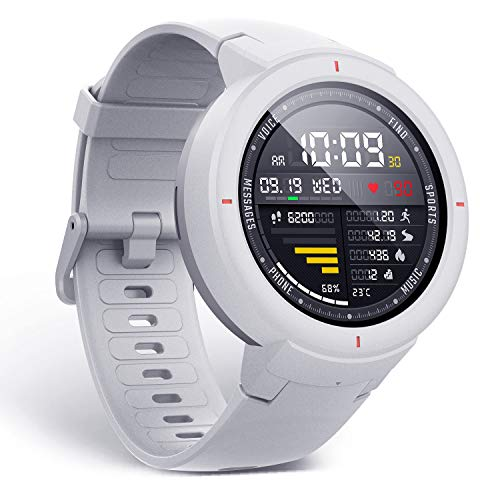 Amazfit Verge Smartwatch with Alexa Built-in, GPS Plus GLONASS All-Day White