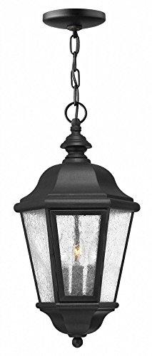 Hinkley Lighting Edgewater Outdoor Light - Hinkley 1672BK-LL Edgewater Outdoor Pendant, 3-Light LED 15 Total Watts, Black