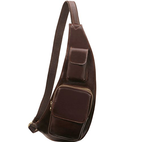 Tuscany Leather Leather crossover bag Dark Brown by Tuscany Leather