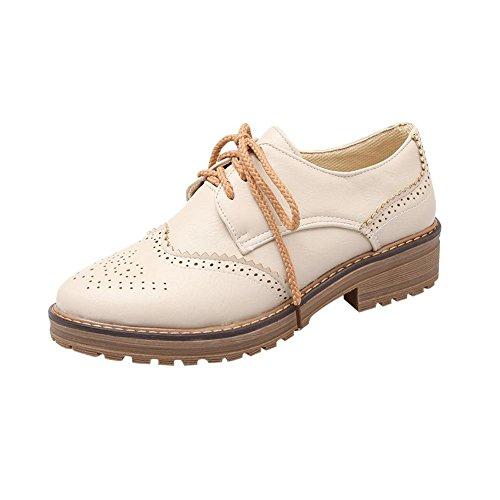 Show Shine Womens Fashion Casual Oxfords Shoes Beige P3hwQZHy