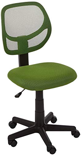 AmazonBasics Low-Back Computer Task Office Desk Chair with Swivel Casters - Green