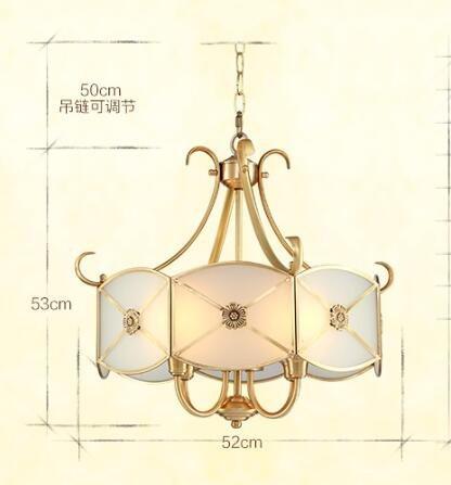 Full copper chandelier European restaurant bar counter American bedroom study luxury bronze chandelier CL ZL292 by WINZSC (Image #5)