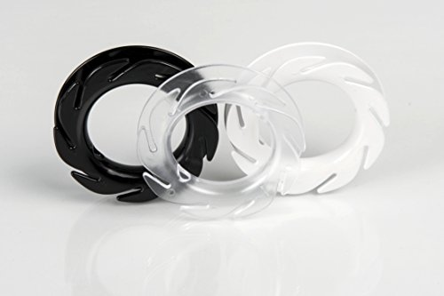 The LOOP earbuds holder headphones cord wrap 3x durable cable organizer black white clear pack