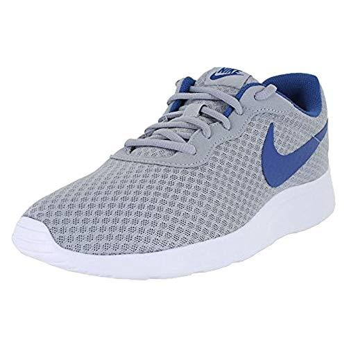 (Nike Men's Tanjun Print Running Shoe (9 D(M) US, Wolf Grey Gym Blue)