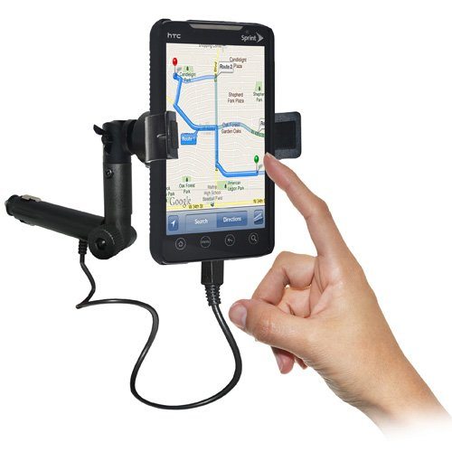 Amzer AMZ93409 Lighter Socket Phone Car Mount with Chargi...