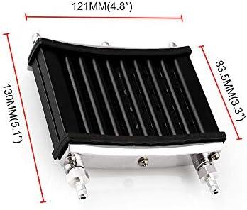 KKmoon Universal Motorcycle Engine Oil Cooler Cooling Radiator For 50cc 70cc 90cc 110cc 125cc Dirt Pit Bike ATV