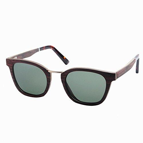 pesca de Ojos frescas del hechas Protección Gafas al ULTRAVIOLETA conduce los Playa Gafas madera de de mano hombres la Lens marco polarizados libre que a Marrón Retro esquí de go de sol TAC de sol aire Gafas 65tgwUq