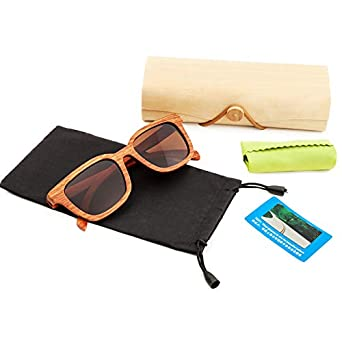Real Rosewood Wooden Sunglasses Wood Sunglasses Polarized for Men and Women