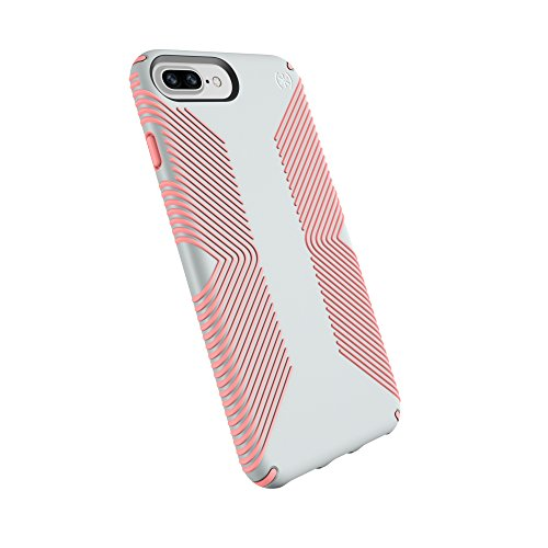 Speck Products Presidio Grip Case for iPhone 8 Plus (Also fits 7 Plus and 6S Plus/6 Plus), Dove Grey/Tart Pink