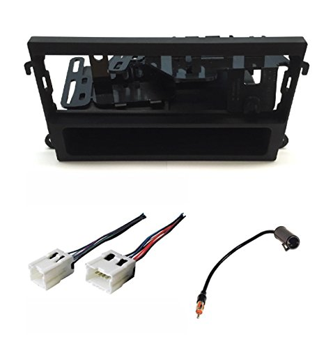 ASC Audio Car Stereo Dash Kit, Wire Harness, and Antenna Adapter for installing a Single Din Radio for Nissan 1998-2002 Pathfinder, 2000-2004 Xterra, 1998-2004 Frontier ()