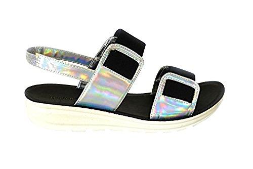 Peep Coulisses Chaussures D'été Toe Chunky Plates Femme Plage Mules Sandales natasha03 Vacances Silver Ex0nqWZzwF
