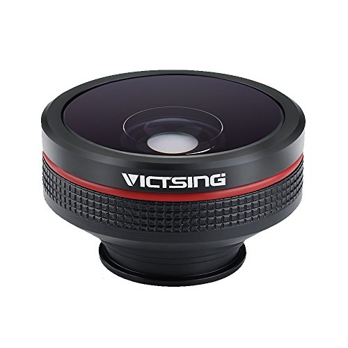 Amazon Lightning Deal 85% claimed: VicTsing Clip-On 3 in 1 Fisheye+12X Macro+24X Super Macro Camera Lens Kit for iPhone Samsung and Android Devices-Black