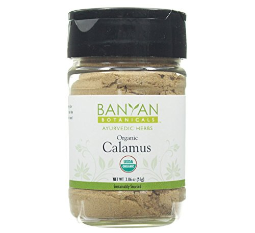 Banyan Botanicals Calamus Powder - Certified Organic, Spice Jar - Acorus calamus - Highly aromatic herb that is used externally to help remove massage oil*