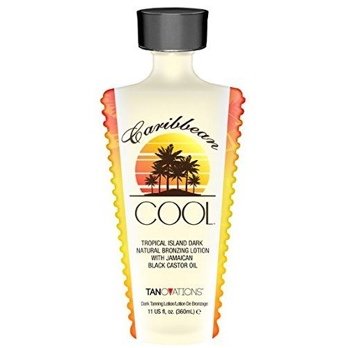 Caribbean Cool, Natural Bronzer, Tanning Lotion with Jamaican Black Castor Oil 11 Ounce. by ED HARDY