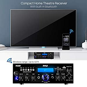 Pyle Bluetooth Stereo Amplifier Receiver