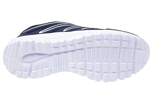 gibra - Zapatillas de textil/sintético para mujer azul oscuro y blanco