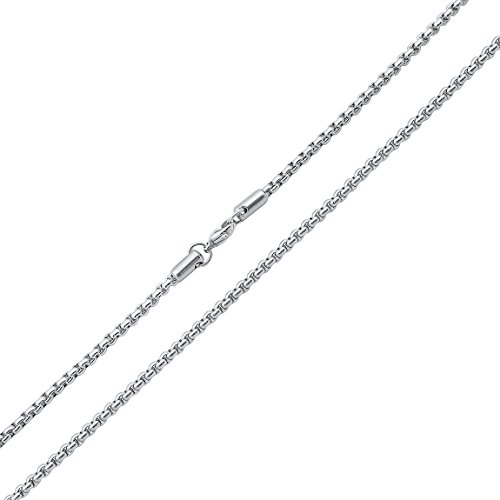 Stainless Steel Round Box Chain 2.5mm - 24'' by SilverCloseOut