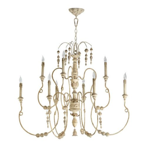 Cheap Quorum International 6206-9-70 Chandeliers with Shades, Persian White, 32″ x 40.5″ x 32″