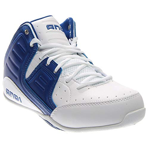 AND1 Men's Rocket 4.0 Mid Sneaker,Bright White/Royal/Bright White,US 10 -