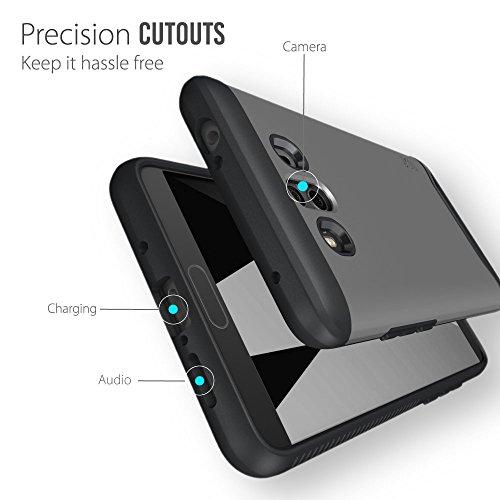 Huawei Mate 10 Funda, Caja protectora TUDIA MERGE TAREA PESADA Protección EXTREME de doble capa para Huawei Mate 10 (Negro Mate) Grafito