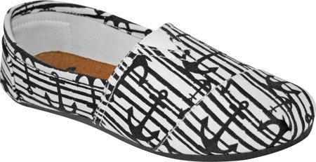 Kaymann DAWGS Women's Nautical Pattern Slip Loafer On Canvas CTf5Fw